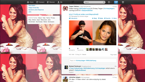 Some Re-Tweet Love from Chrissy Teigen