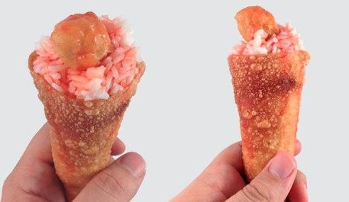 wonton-sweet-sour-chicken-cone