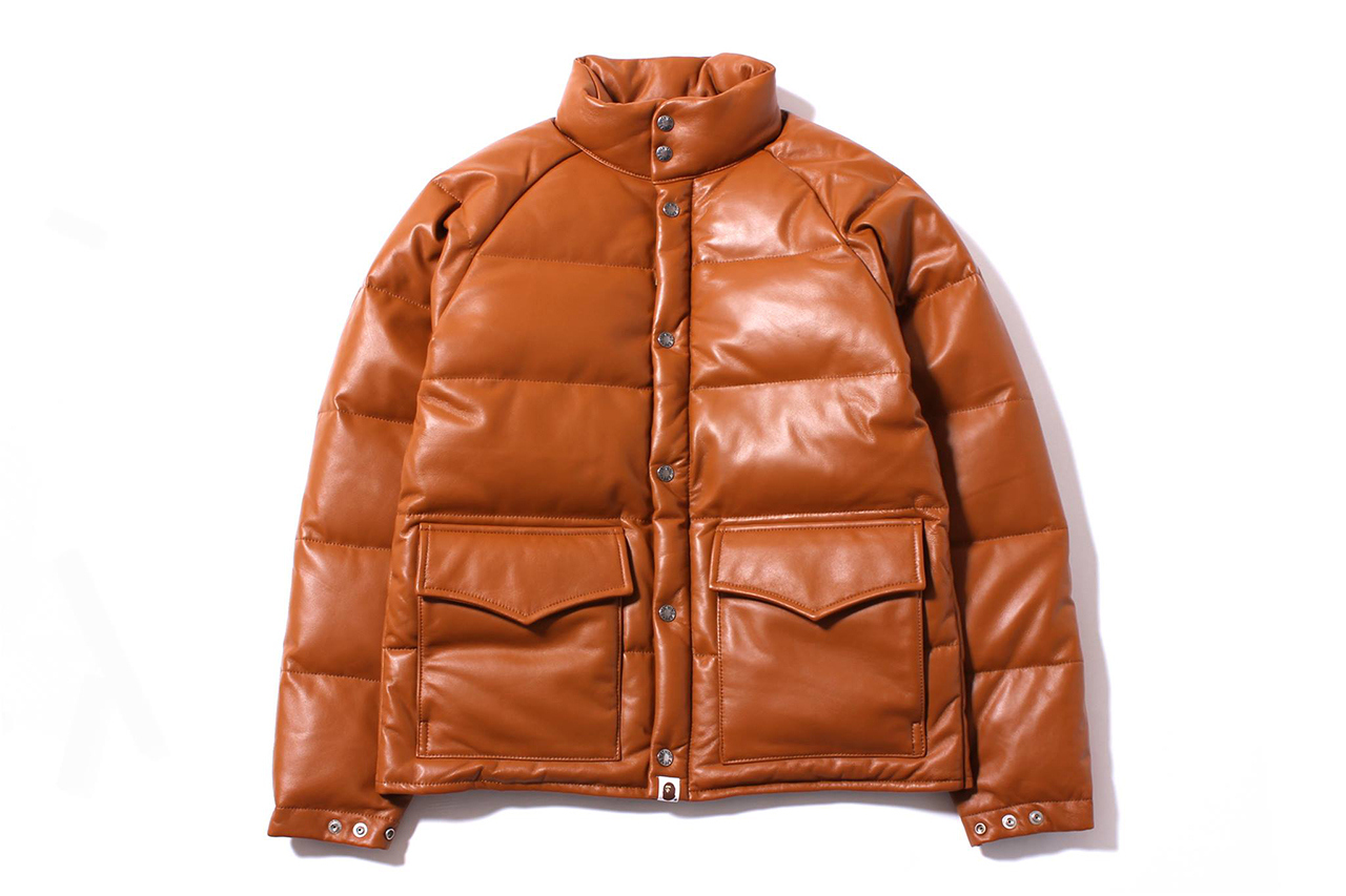A Bathing Ape 2013 Fall/Winter LEATHER CLASSIC DOWN JACKET | TEAM ...