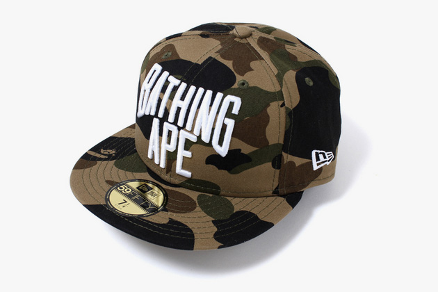 eed0c5e05ee BAPE x New Era 1st Camo 59FIFTY Fitted Cap