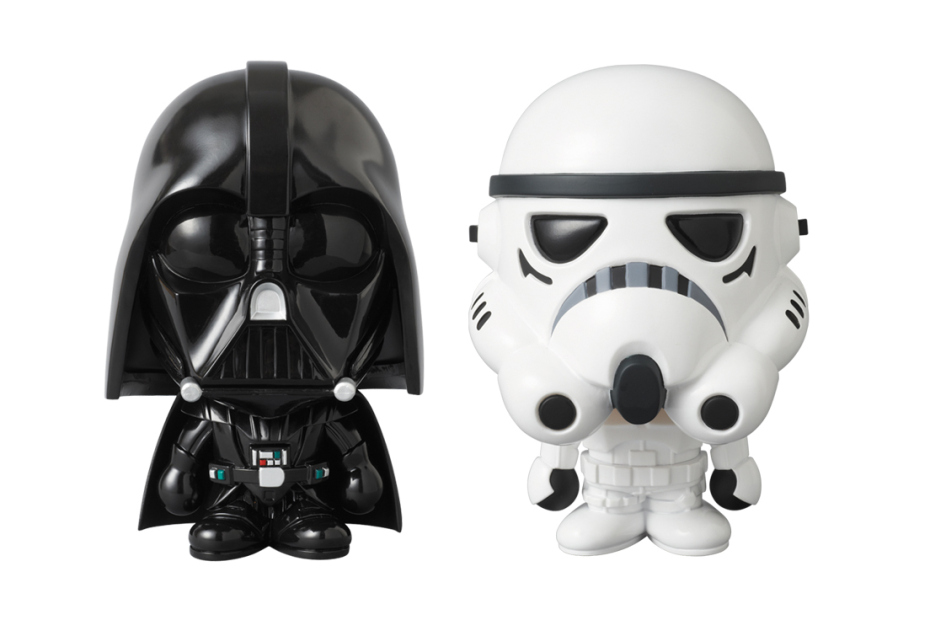 4300e49f A Bathing Ape and Medicom Toy collaborate with Star Wars STORMTROOPER & DARTH  VADER vinyl collectibles