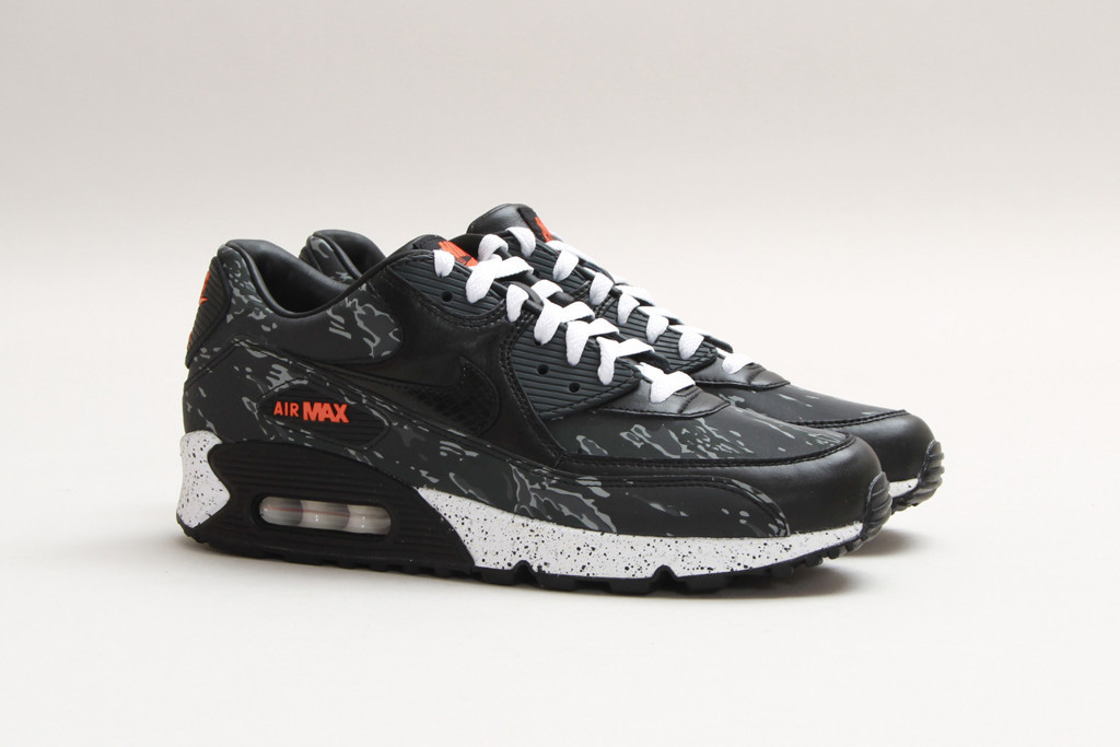 "check out ec1a1 99019 atmos (Japan) collaborated with Nike to release the Air Max 90 Premium  ""Black Tiger Camo"""