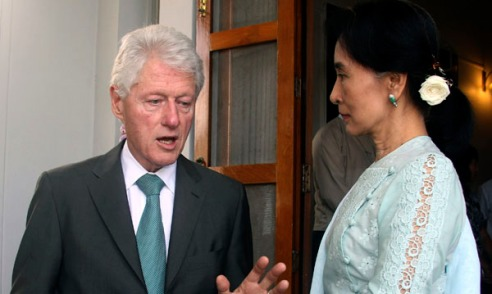 Bill Clinton, Aung San Suu Kyi