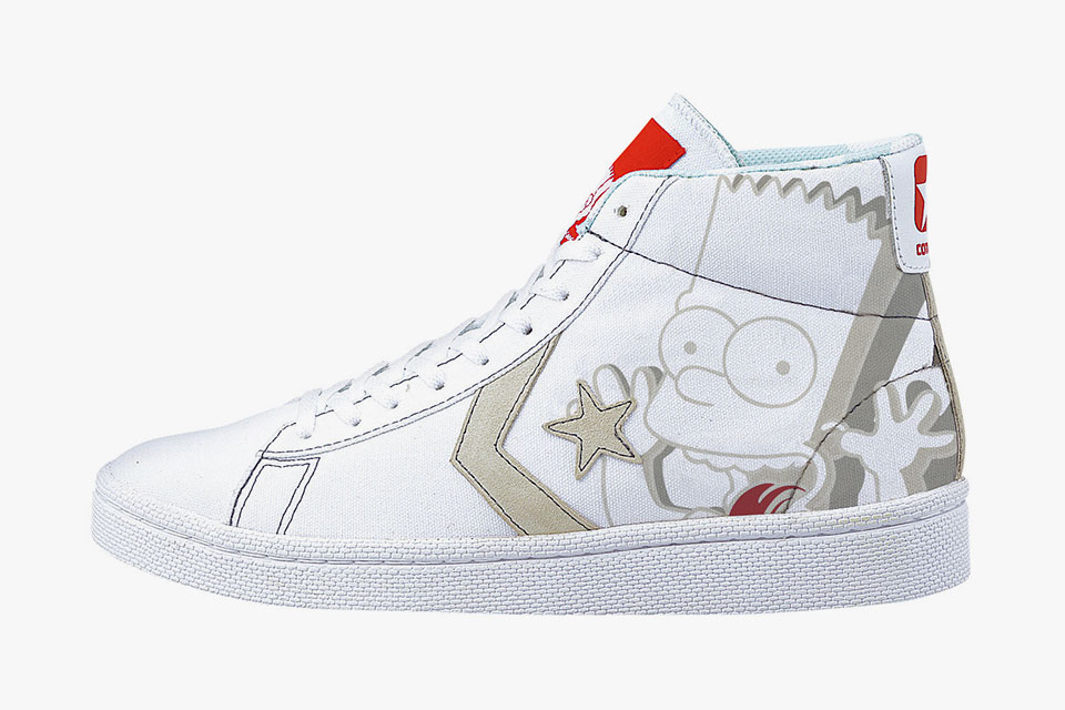 43d2eb8a455c Converse collaborates with XLarge (Japan) to produce  The Simpsons   Pro-Leather Canvas Hi
