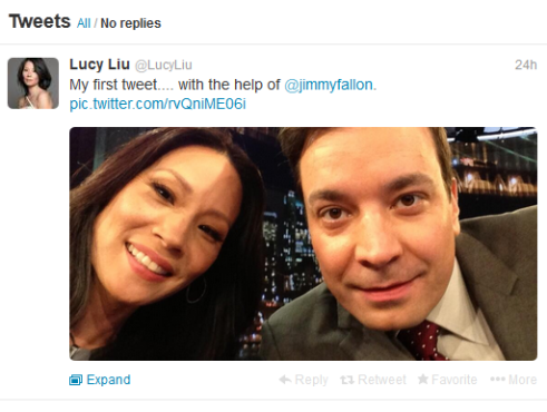 Lucy_Liu_first_Tweet