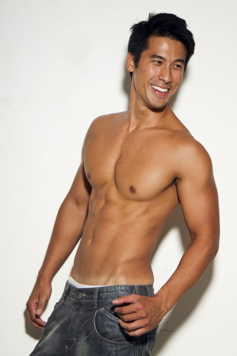 Asian boy shirtless