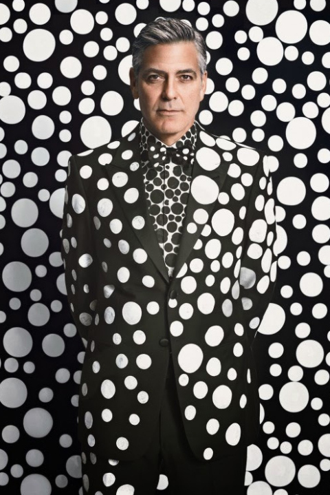 7522ffc1bcf9 george-clooney-by-yayoi-kusama-for-w-magazine-