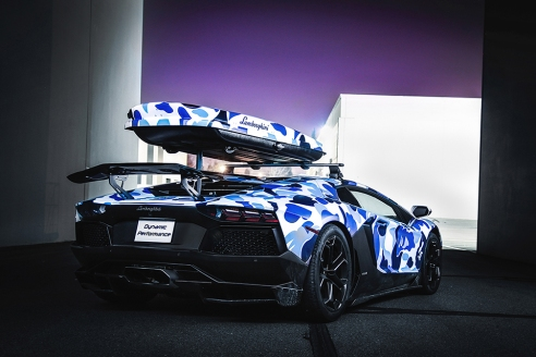 Lamborghini-x-BAPE-Arctic-Camo-Aventador-with-Ski-Box-4