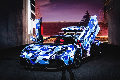 Lamborghini-x-BAPE-Arctic-Camo-Aventador-with-Ski-Box-6