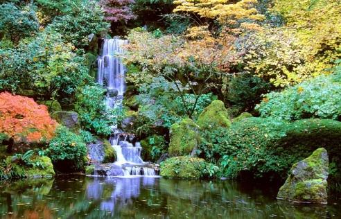 portlands-japanese-gardens-flowing-pond