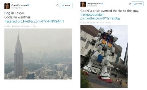 Craig Ferguson's Tweet from Tokyo